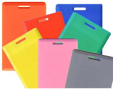 การ์ดบัตรคีย์การ์ดสีแดง การ์ดบัตรพนักงานแบบสี กล่องละ 100 ใบ