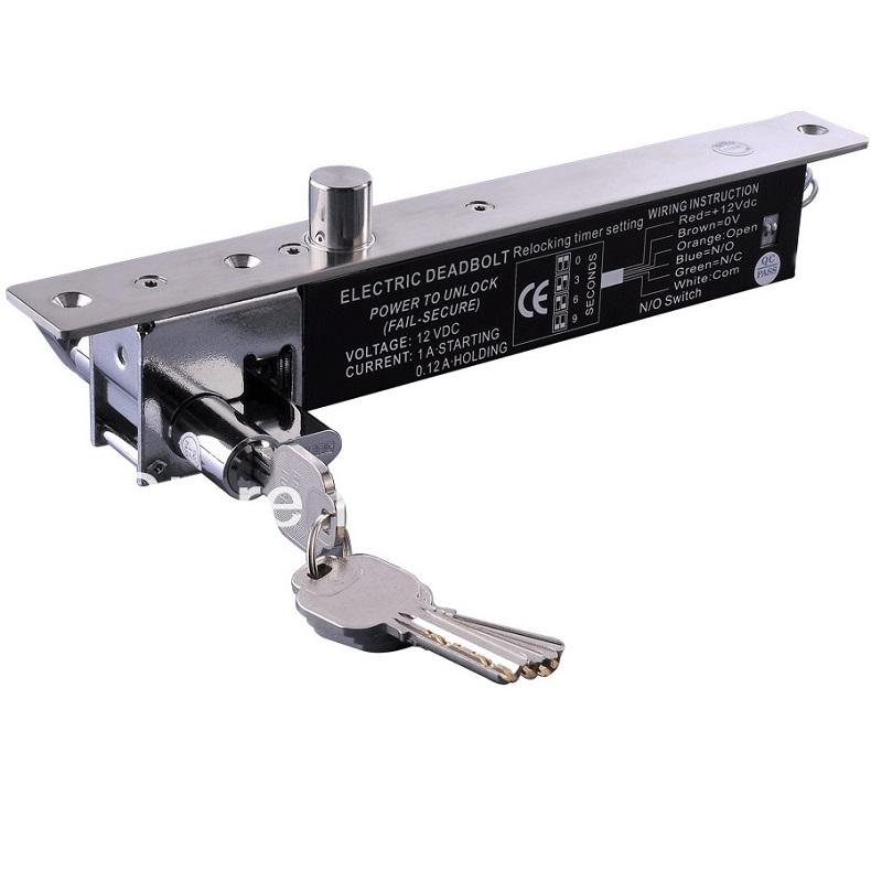 กลอนสลักไฟฟ้าล็อคทำงานเมื่อไฟดับ รุ่น 5-KC-LB600B มีกุญแจชนิดบางสำหรับประตูบางโดยเฉพาะ 2000 กิโล 450 4