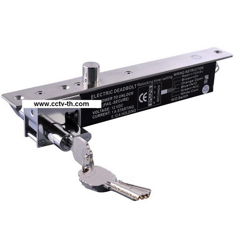 กลอนสลักไฟฟ้าล็อคทำงานเมื่อไฟดับ รุ่น 5-KC-LB600B มีกุญแจชนิดบางสำหรับประตูบางโดยเฉพาะ 2000 กิโล 450 5