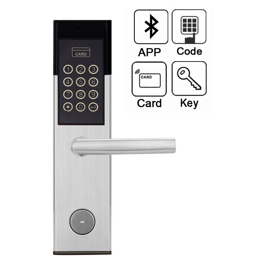 กลอนประตูดิจิตอลล็อกเปิดประตูด้วย APP โทรศัพท์มือถือรหัสผ่าน Digital door lock 5-HT-8811