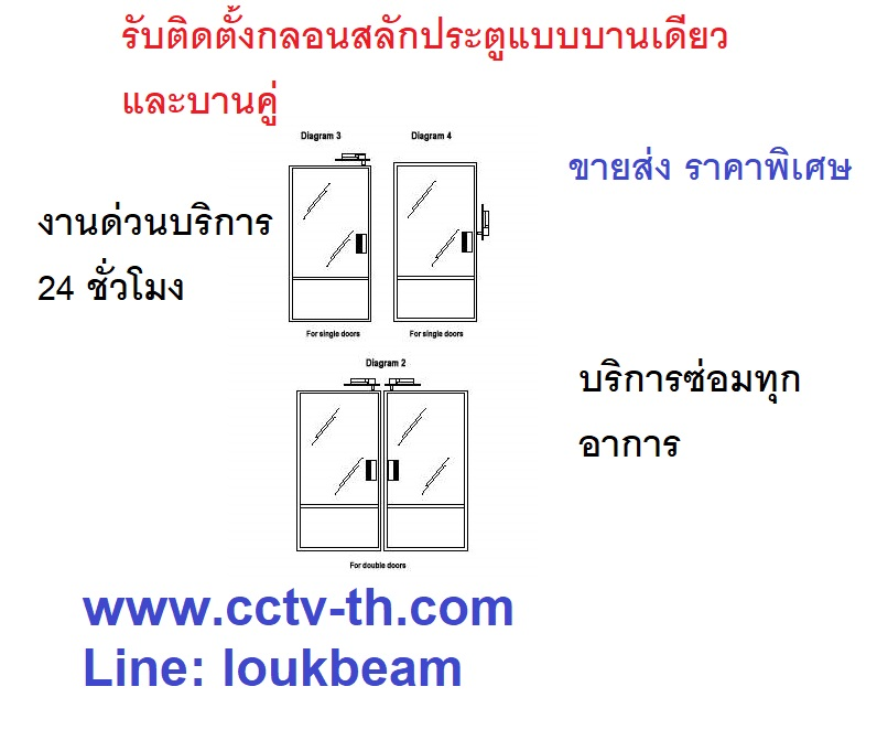 กลอนสลักประตูไฟฟ้าสำหรับคีย์การ์ด ประตูกระจก ล็อกประตูไฟฟ้า  Electric deadbolt for access control 3