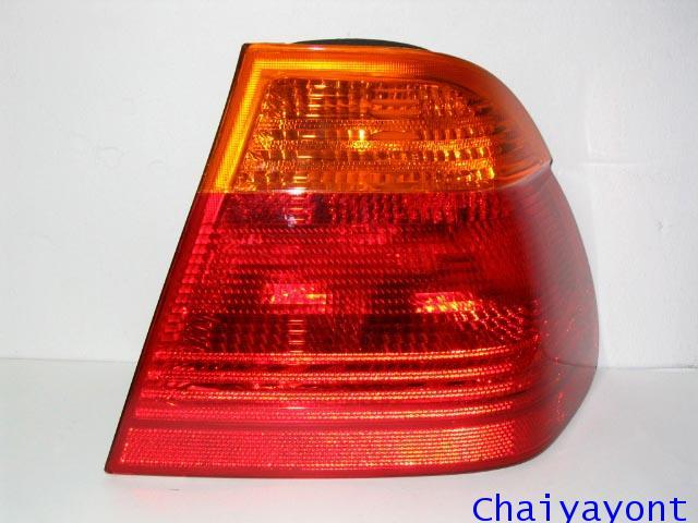 ไฟท้ายขวาทั้งชุดสีส้ม-แดง รถ BMW E46 318i 320i 325i Series 3