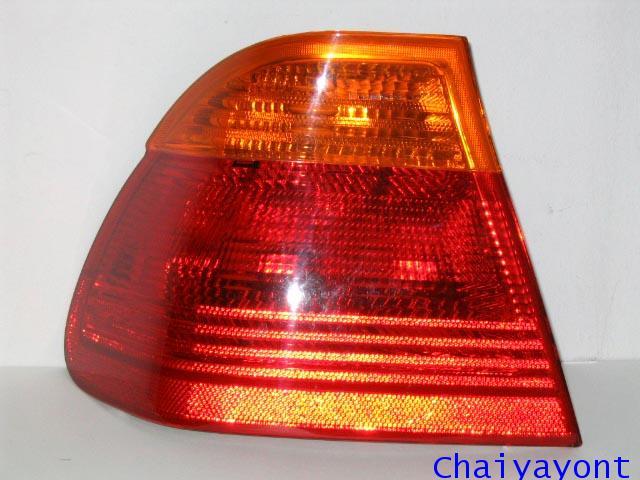 ไฟท้ายซ้ายทั้งชุดสีส้ม-แดง รถ BMW E46 318i 320i 325i Series 3