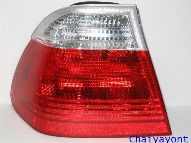 ไฟท้ายซ้ายชุดแต่งทั้งชุดสีขาว-แดง ULO รถ BMW E46 318i 320i 325i Series 3