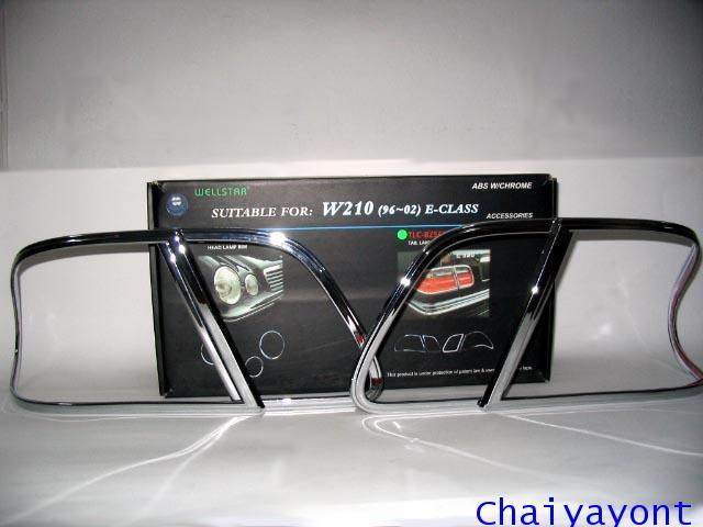 คิ้วไฟท้ายชุดแต่งรถเบนซ์ Mercedes - Benz W210 E230 E240 New Eye