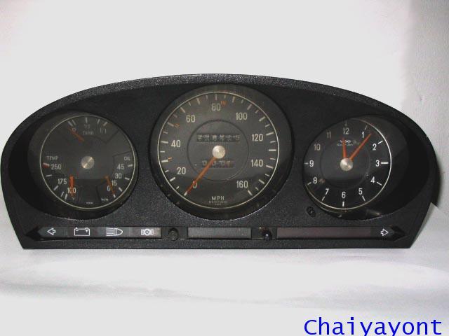 แผงหน้าปัดเรือนไมล์ทั้งชุดรถเบนซ์คลาสสิก Auto Vintage Mercedes - Benz W116 280S 450SEL 500SEL