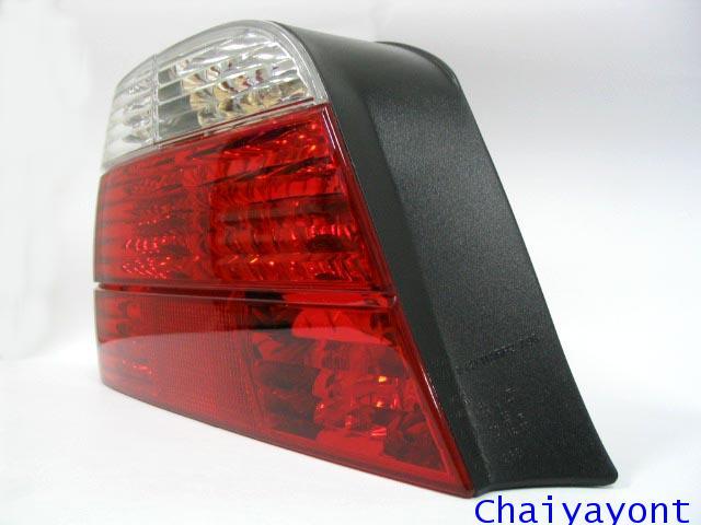 ไฟท้ายด้านซ้ายตาเพชรใสสีขาวแดงรถบีเอ็มดับบลิว BMW E38 728i 730i 730iL 735i 735iL 740i 740iL Series 7 1