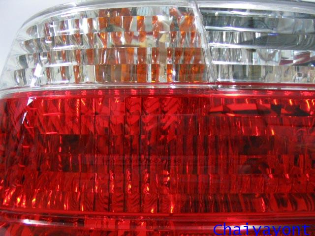 ไฟท้ายด้านขวาตาเพชรใสสีขาวแดง รถบีเอ็มดับบลิว BMW E38 728i 730i 730iL 735i 735iL 740i 740iL Series 7 1