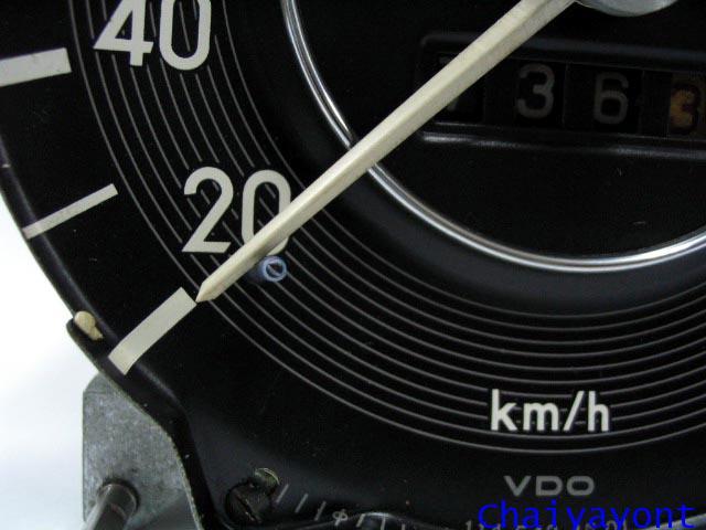 หน้าปัดเรือนไมล์ เกจความเร็ว รถเบนซ์ตั๊กแตนคลาสสิคโบราณ Mercedes-Benz W108 W109 250S 280SEL 300SEL 1