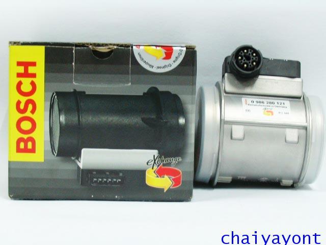 แอร์โฟล์เซ็นเซอร์ Bosch Air Mass Meter, Air Flow Sensor เบอร์ 121 รถเบนซ์ Mercedes-Benz W140 S500 SE