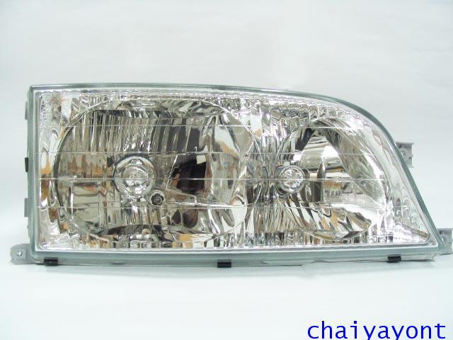 ไฟหน้าขวาทั้งดวง แบบใส ไฟหน้าเพชร OEM Ssanyong Mercedes-Benz MB100 MB140 1