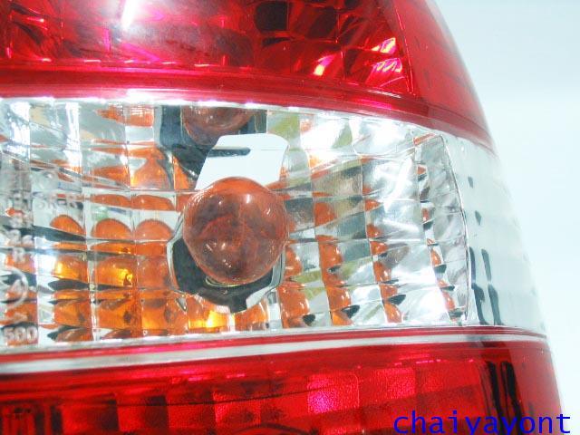 ชุดแต่งไฟท้ายเพชร คริสตัลใส ขาว-แดง ด้านขวา รถบีเอ็มดับบลิว BMW E34 518i 520i 525i 530i M43 M50 6