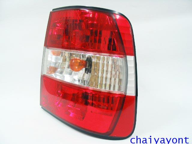 ชุดแต่งไฟท้ายเพชร คริสตัลใส ขาว-แดง ด้านขวา รถบีเอ็มดับบลิว BMW E34 518i 520i 525i 530i M43 M50 13