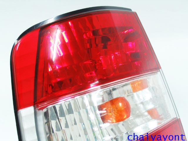 ชุดแต่งไฟท้ายเพชร คริสตัลใส ขาว-แดง ด้านซ้าย รถบีเอ็มดับบลิว BMW E34 518i 520i 525i 530i M43 M50