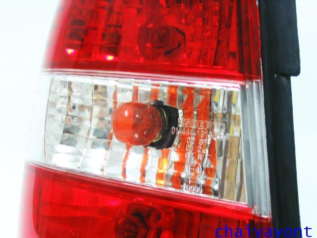 ชุดแต่งไฟท้ายเพชร คริสตัลใส ขาว-แดง ด้านซ้าย รถบีเอ็มดับบลิว BMW E34 518i 520i 525i 530i M43 M50 2