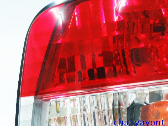 ชุดแต่งไฟท้ายเพชร คริสตัลใส ขาว-แดง ด้านซ้าย รถบีเอ็มดับบลิว BMW E34 518i 520i 525i 530i M43 M50 5