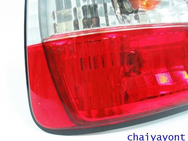 ชุดแต่งไฟท้ายเพชร คริสตัลใส ขาว-แดง ด้านซ้าย รถบีเอ็มดับบลิว BMW E34 518i 520i 525i 530i M43 M50 6
