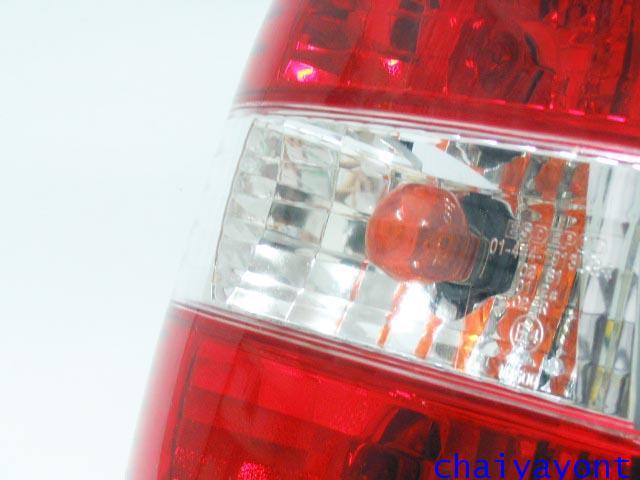 ชุดแต่งไฟท้ายเพชร คริสตัลใส ขาว-แดง ด้านซ้าย รถบีเอ็มดับบลิว BMW E34 518i 520i 525i 530i M43 M50 14