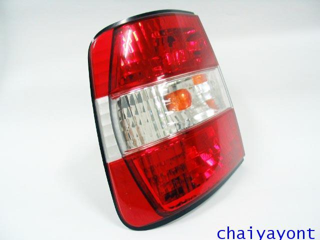 ชุดแต่งไฟท้ายเพชร คริสตัลใส ขาว-แดง ด้านซ้าย รถบีเอ็มดับบลิว BMW E34 518i 520i 525i 530i M43 M50 17
