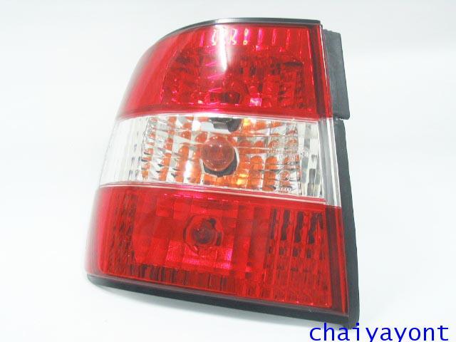 ชุดแต่งไฟท้ายเพชร คริสตัลใส ขาว-แดง ด้านซ้าย รถบีเอ็มดับบลิว BMW E34 518i 520i 525i 530i M43 M50 21