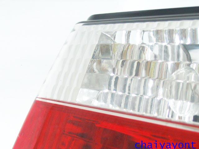 ชุดแต่งทับทิมไฟท้ายเพชร คริสตัล ขาว-แดง ด้านขวา รถบีเอ็มดับบลิว BMW E34 518i 520i 525i 530i M43 M50 5