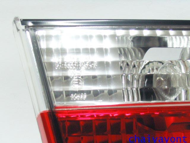 ชุดแต่งทับทิมไฟท้ายเพชร คริสตัล ขาว-แดง ด้านซ้าย รถบีเอ็มดับบลิว BMW E34 518i 520i 525i 530i M43 M50 2