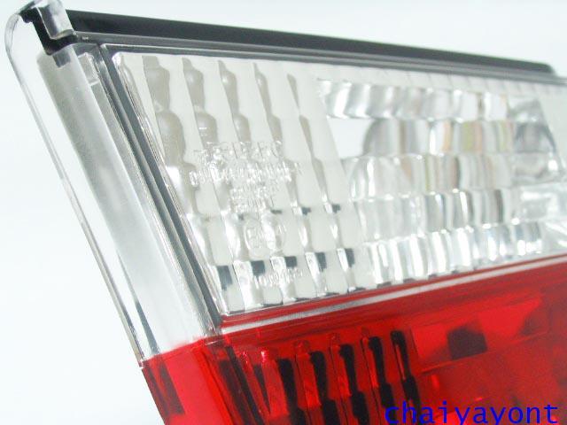 ชุดแต่งทับทิมไฟท้ายเพชร คริสตัล ขาว-แดง ด้านซ้าย รถบีเอ็มดับบลิว BMW E34 518i 520i 525i 530i M43 M50 7
