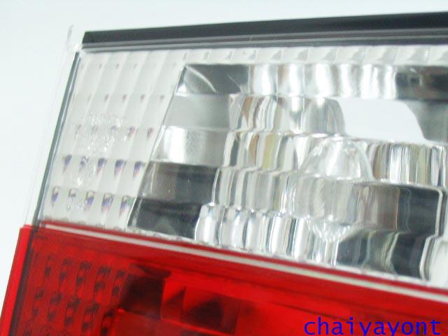 ชุดแต่งทับทิมไฟท้ายเพชร คริสตัล ขาว-แดง ด้านซ้าย รถบีเอ็มดับบลิว BMW E34 518i 520i 525i 530i M43 M50 11