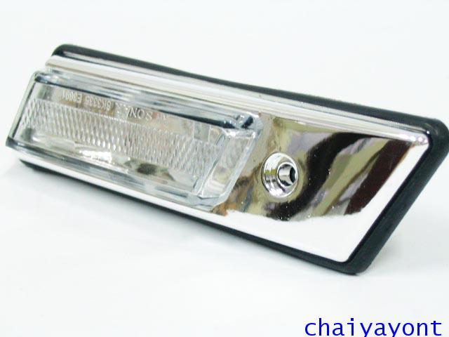 ชุดแต่งไฟหรี่สีขาวโครเมี่ยม ไฟหรี่ข้างบังโกลน รถบีเอ็มดับบลิว BMW E34 518i 520i 525i 530i M43 M50 6