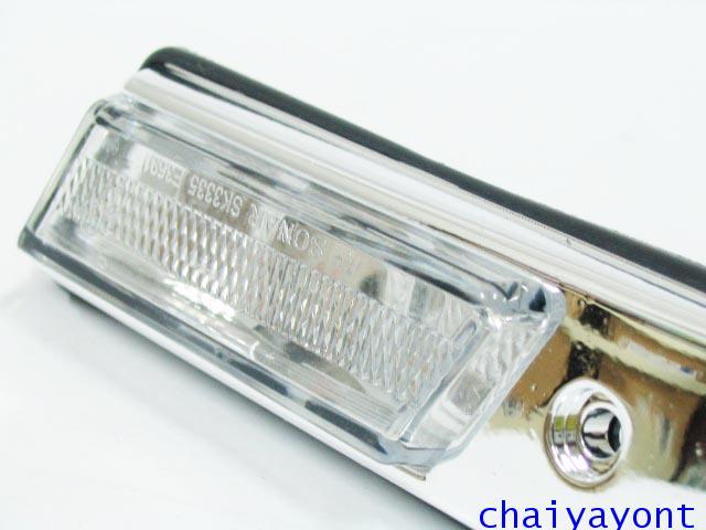 ชุดแต่งไฟหรี่สีขาวโครเมี่ยม ไฟหรี่ข้างบังโกลน รถบีเอ็มดับบลิว BMW E34 518i 520i 525i 530i M43 M50