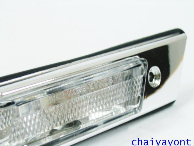 ชุดแต่งไฟหรี่สีขาวโครเมี่ยม ไฟหรี่ข้างบังโกลน รถบีเอ็มดับบลิว BMW E34 518i 520i 525i 530i M43 M50 7