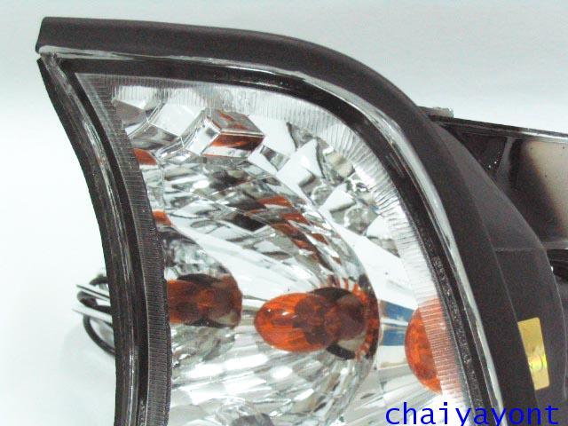 ประดับยนต์ชุดแต่งไฟเลี้ยวเพชร LH รถบีเอ็มดับบลิว BMW E34 518i 520i 525i 530i M43 M50 M5 Serires 5