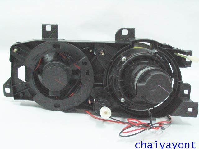 ชุดแต่งรถไฟหน้า RH วงแหวนโดนัท Projector รถบีเอ็ม BMW E34 518i 520i 525i 530i M43 M50 M5 Serires 5 20