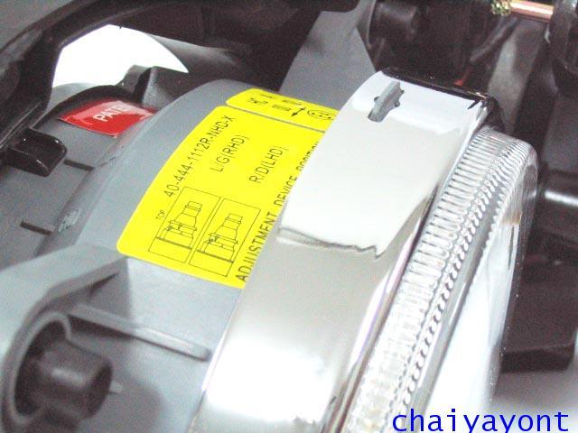 ชุดแต่งรถไฟหน้า RH วงแหวนโดนัท Projector รถบีเอ็ม BMW E34 518i 520i 525i 530i M43 M50 M5 Serires 5 25