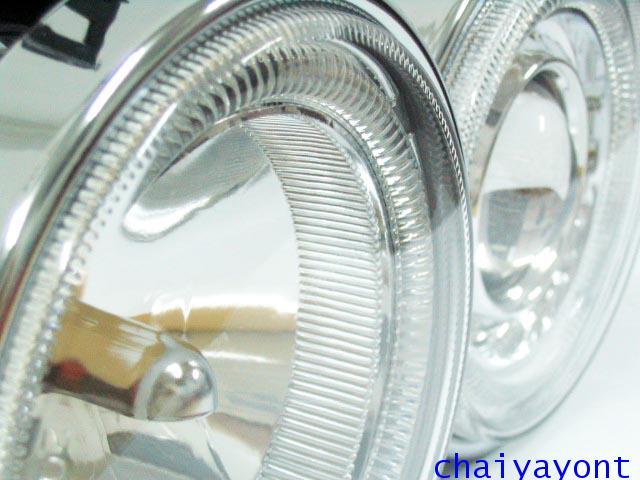 ชุดแต่งรถไฟหน้า LH วงแหวนโดนัท Projector รถบีเอ็ม BMW E34 518i 520i 525i 530i M43 M50 M5 Serires 5 8
