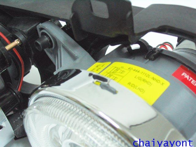 ชุดแต่งรถไฟหน้า LH วงแหวนโดนัท Projector รถบีเอ็ม BMW E34 518i 520i 525i 530i M43 M50 M5 Serires 5 21