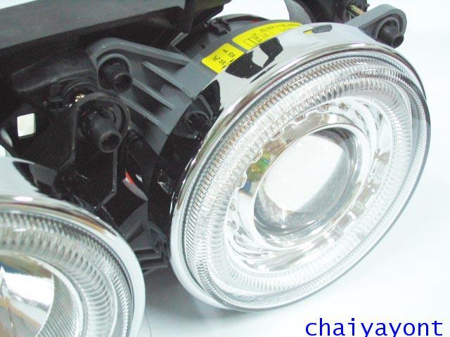 ชุดแต่งรถไฟหน้า LH วงแหวนโดนัท Projector รถบีเอ็ม BMW E34 518i 520i 525i 530i M43 M50 M5 Serires 5 22