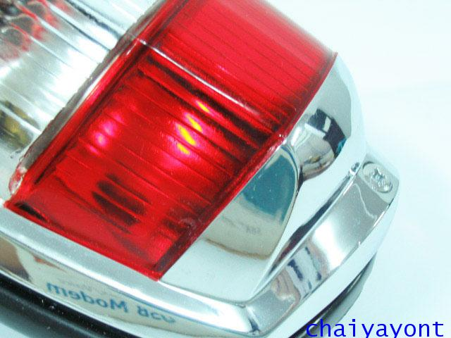 OEM ไฟท้าย ขาว-แดง รถเบนซ์ท้ายมน Classic Vintage Ponton Mercedes-Benz W121 180 190S 190SL 300SL 15