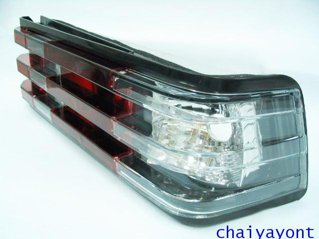 ชุดแต่งไฟท้ายเพชร ขาว-แเดง คลียร์ใส Clear Crystal รถเบนซ์ Mercedes-Benz W201 190 190D 190E 1.8  2.3
