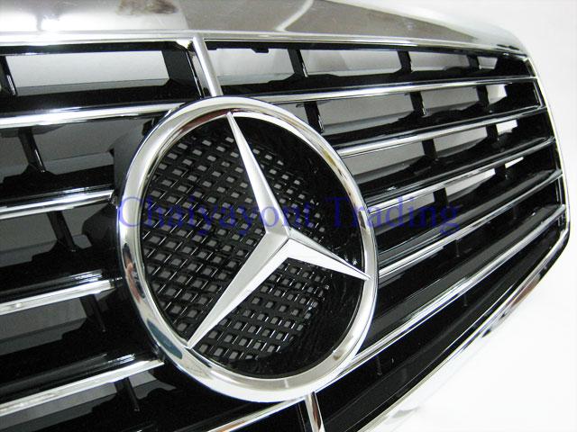 ประดับยนต์ชุดแต่ง กระจังหน้าดาวกลาง รถเบนซ์ Mercedes-Benz W211 Kompressor , CDI E200 E220 E320 E350