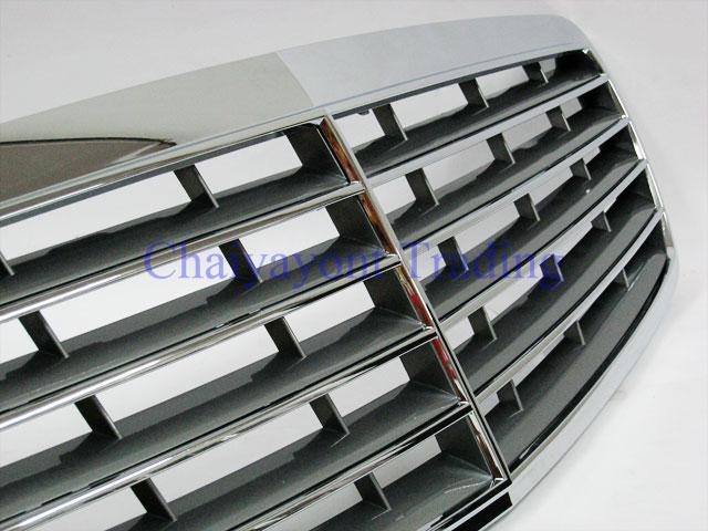 ประดับยนต์ชุดแต่ง กระจังหน้า AMG Silver รถเบนซ์ Mercedes-Benz W211 Kompressor , CDI E200 E220 E320 E
