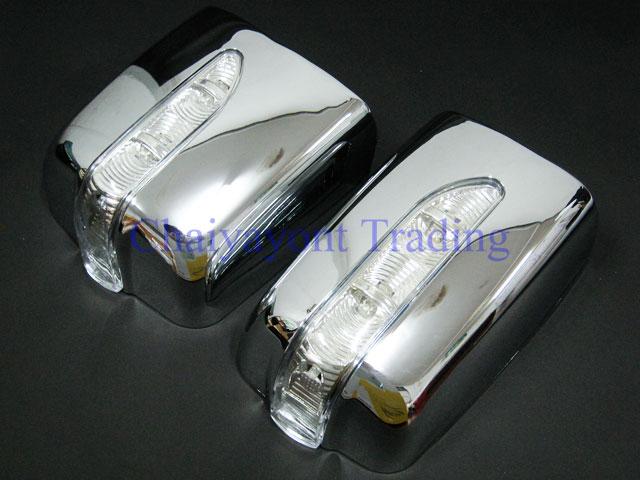 ประดับยนต์ชุดแต่งรถ ครอบมองข้างไฟ LED โครเมี่ยม รถเบนซ์ Mercedes-Benz W124 200E 230E 300E E220 E280