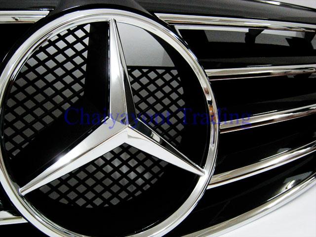 ประดับยนต์ชุดแต่ง กระจังหน้าดาวกลาง CL-Type รถเบนซ์ Mercedes-Benz W211 Kompressor , CDI E200 E220