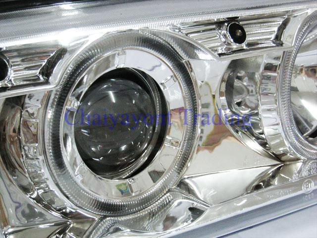 ชุดแต่งรถไฟหน้าวงแหวนโครเมียม CCF Projector รถบีเอ็ม BMW E36 316i 318i 320i 325i  M40 M43 M50 2