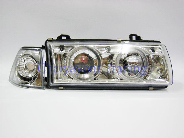 ชุดแต่งรถไฟหน้าวงแหวนโครเมียม CCF Projector รถบีเอ็ม BMW E36 316i 318i 320i 325i  M40 M43 M50 1