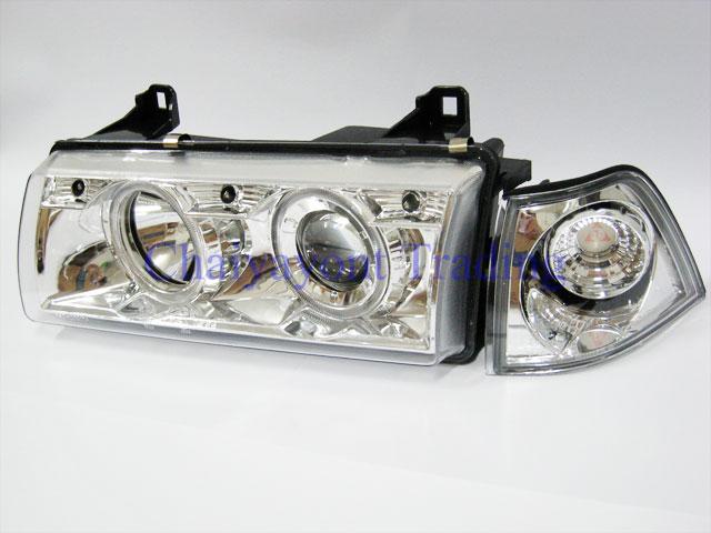 ชุดแต่งรถไฟหน้าวงแหวนโครเมียม CCFL Projector รถบีเอ็ม BMW E36 316i 318i 320i 325i  M40 M43 M50
