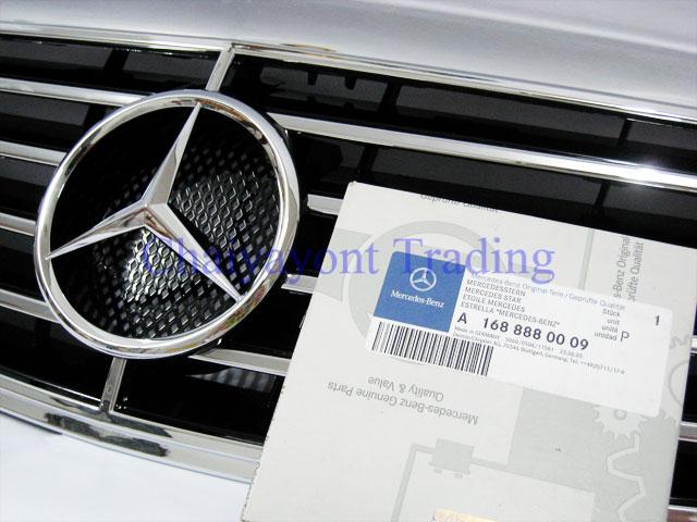 ประดับยนต์ชุดแต่งรถ กระจังหน้าดาวกลาง AMG รถเบนซ์ Mercedes-Benz W220 S280 S500 S600 CDI Kompressor