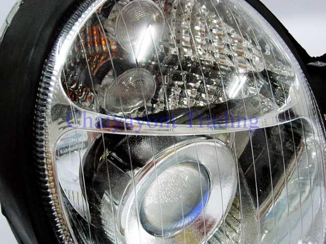 ประดับยนต์ชุดแต่งรถ ไฟหน้า RH Projector Chrome Type I รถเบนซ์ Mercedes-Benz W210 E200 E220 E230 E280 3