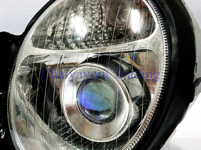ประดับยนต์ชุดแต่งรถ ไฟหน้า LH Projector Chrome Type I รถเบนซ์ Mercedes-Benz W210 E200 E220 E230 E280