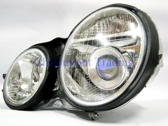 ประดับยนต์ชุดแต่งรถ ไฟหน้า LH Projector Chrome Type I รถเบนซ์ Mercedes-Benz W210 E200 E220 E230 E280 1